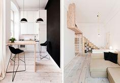 Se den fine miniature lejlighed i Polen. Få inspiration til det lille hjem eller lejlighed.