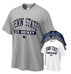 Penn State Tshirt With Ice Hockey Oval Print  The Family Clothesline - www.pennstateclothes.com
