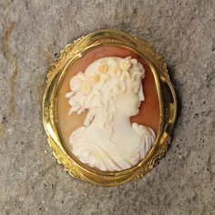 Meticulously detailed vintage Coral Cameo. From the unbeatable collection at Northern Nevada Coin.