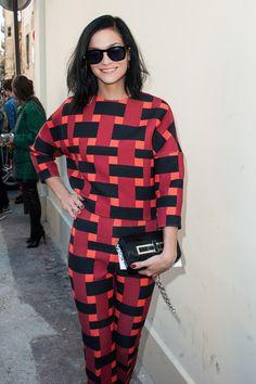 Leigh Lezark ariives at the Giambattista Valli Spring / Summer 2013 show as part of Paris Fashion Week on October 1, 2012 in Paris, France.