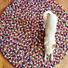 DIY Teppich aus Filzkugeln #selbermachen #handmade #filz