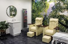 Our pedicure room is perfectly relaxing