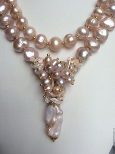 "Coliere, margele lucrate manual.  Colier din perle baroc DIMINEATA.  ""Paradisul"" Lyudmila.  Magazin online de masterat corecte."