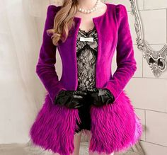 Fuschia jacket...so totally would wear this!!!
