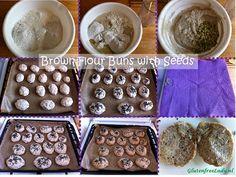 Gluten free brown buns with seeds   http://glutenfreelady.nl/brown-flour-buns-with-pumpkin-seeds/