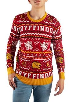db1f945609f Harry Potter Gryffindor Ugly Sweater