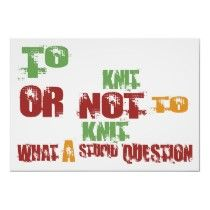 To Knit or Not to Knit