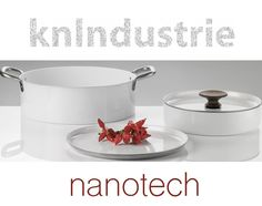"""""""Knpro"""": set of #aluminum #cookware with white non-stick #nanotech coating and steel handles. Designers: Massimo Castagna e Adele Martelli http://bit.ly/1J7t5A6 #Design#InteriorDesign#food #cooking#kitchen"""