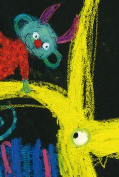 Mies van Hout - kinderboekillustraties. Bekijk ook de website van Mies van Hout voor leuke tips en ideeën om op een creatieve en kunstzinnige manier bezig te zijn met de thema's uit de boeken Vrolijk en Vriendjes. http://www.miesvanhout.nl