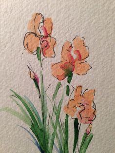 Dream Iris Watercolor Card