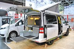 MultiCamper auf VW-T5-Basis mit zweistufigem Heckauszug für schwere Lasten…