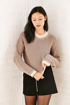 Silence + Noise Connor Wave Stitch Sweater