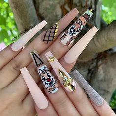 20 Hottest & Catchiest Nail Polish Trends in 2019 Coral Nails, Aycrlic Nails, Dope Nails, Bling Nails, Swag Nails, Bling Bling, Fall Nails, Fabulous Nails, Gorgeous Nails