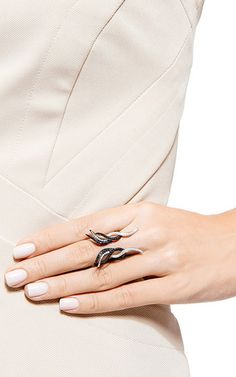 Fire Butterfly Ring by AS29 for Preorder on Moda Operandi