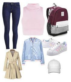 """School day"" by liamariemarinez on Polyvore featuring moda, Levi's, adidas Originals, Victoria's Secret e MANGO"