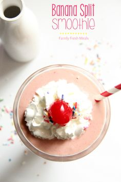 Banana Split Smoothie | Family Fresh Meals