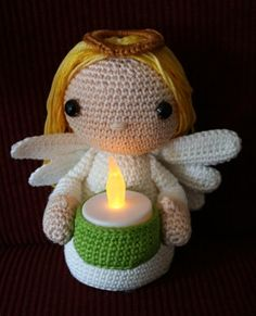 Angel with candle by Amigurumisnl on Etsy