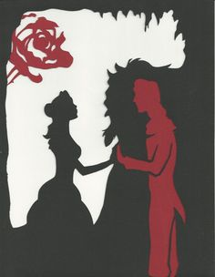 Paper Cut Silhouette, Beauty and the Beast: The Man Inside ...