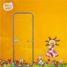LOU DANS LES FLEURS / Stickers muraux / Wall stickers / Design Série-Golo