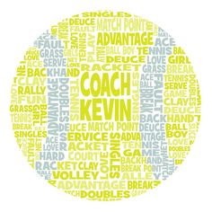 Personalised Tennis Word Art Gift by ArtyAlphabet on Etsy