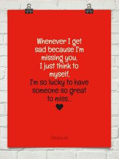 When I miss u How Lucky Am I, I Miss U, Sad, Company Logo, Sayings, Miss You, I Miss You, Lyrics, Quotations