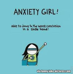 Funny Anxiety Girl Superhero Joke Cartoon | Funny Joke Pictures