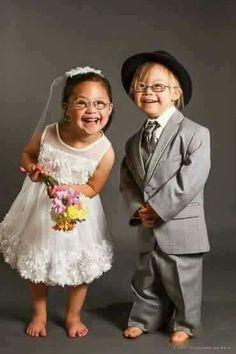 Cute kids as flower girl and ring bearer; Down Syndrome So Cute Baby, Baby Love, Cute Kids, Precious Children, Beautiful Children, Beautiful Babies, Beautiful People, Funny Baby Faces, Funny Babies