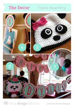 Panda themed birthday party :: It's a design life.
