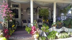Decorating with Flowers | Front Porch Decorating | Porch Pictures