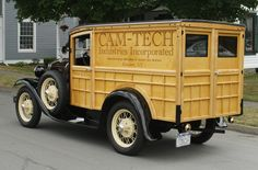Ford Model A woodie panel truck. Ford Classic Cars, Classic Trucks, Cool Trucks, Cool Cars, Woody Wagon, Panel Truck, Classic Motors, Vintage Trucks, Ford Models
