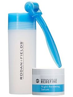 Review, Photos: Rodan + Fields REDEFINE ACUTE CARE Skincare For Expression Lines, Wrinkles, Night Renewing Serum, Micro-Exfoliating Roller