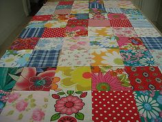 VINTAGE/new FABRIC 60 100% COTTON SQUARES CRAFT PATCHWORK 10 cms x 10 cms