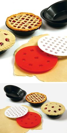 Mini pie pan set - comes with two crust cutters #product_design
