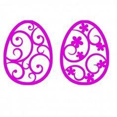 Easter Eggs Flower Design SVG File