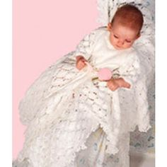 Mary Maxim - Free Christening Dress & Blanket Knit Pattern - Free Patterns - Patterns & Books