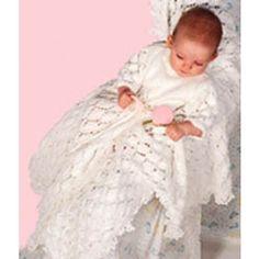 Mary Maxim - Free Christening Dress & Blanket Knit Pattern - Free Patterns - Patterns & Books