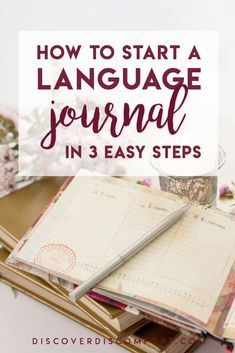 Getting started journaling in another language — and it doesn't have to be as difficult as you think. Start a language journal in 3 easy steps. Korean Language Learning, Learn A New Language, Foreign Language, German Language, Language Study, Italian Language, Sign Language, Language Arts, Learning Languages Tips