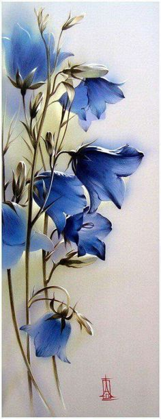 Beautiful watercolor painting flowers