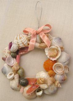 sea shell ornament - front