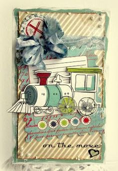 Created by Melissa for the Simon Says Stamp Transportation Challenge. 2013