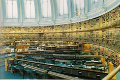 """British library, London """"Libraries"""" by photographer Candida Höfer"""