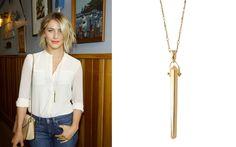 Julianne Hough wearing the Halskette Rebel - Gold by Stella & Dot