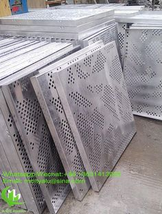 Aluminum perforated panel sheet metal facade cladding panel 2.5mm thickness for curtain wall facade decoration