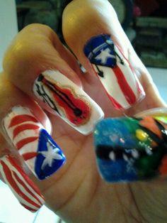 My nails mis disenos hechos por mi.