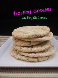 Cookies made with leftover or canned frosting. Taste like funfetti!
