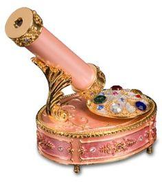 Pink Kaleidoscope Music Box