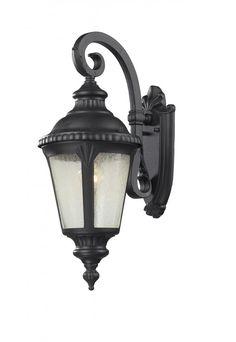 1 Light Outdoor Light : 545S-BK | Progressive Lighting