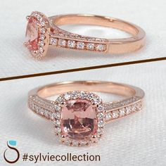 LA VIE EN ROSE We love one of our best selling rings in one of the hottest trends #rosegold set with a cushion cut