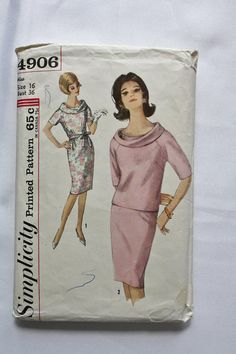 Vintage Sewing Pattern 1960s MAD MEN Dress by BluetreeSewingStudio