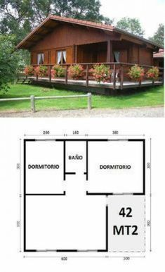 Model House Plan, My House Plans, Small House Plans, House Floor Plans, Small Cottage Homes, Cottage Plan, Village House Design, Village Houses, Log Cabin Mobile Homes